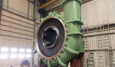 Highly abrasive slurry handling pump